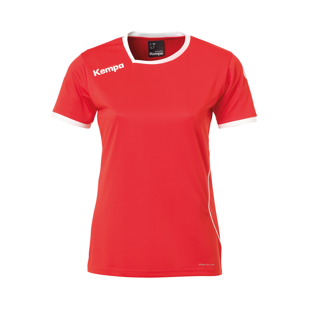 Curve Shirt Women rouge/blanc