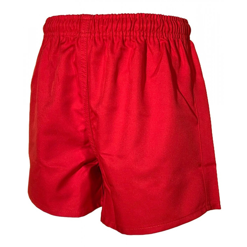 SHORT RUGBY ENFANT ROUGE