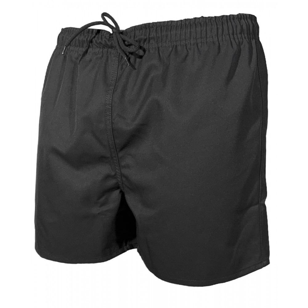SHORT RUGBY ADULTE NOIR