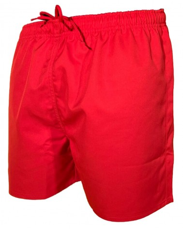 SHORT RUGBY ADULTE ROUGE