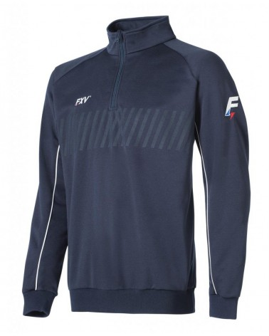 Sweat 1/2 zip action noir