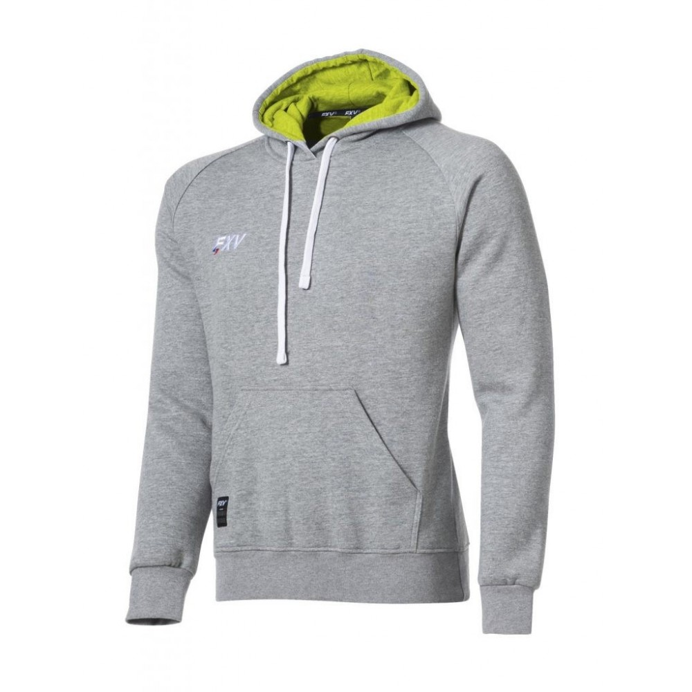 Sweat capuche Force gris chine