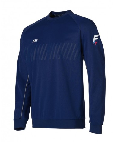 Sweat col rond action marine
