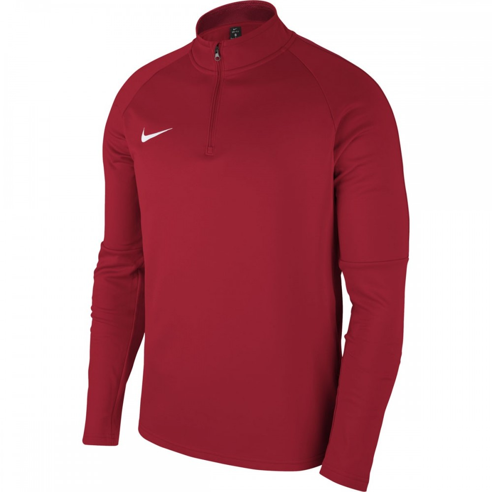 Sweat 1/4 zip rouge Academy 18