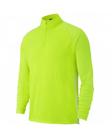 Sweat 1/4 zip jaune fluo...
