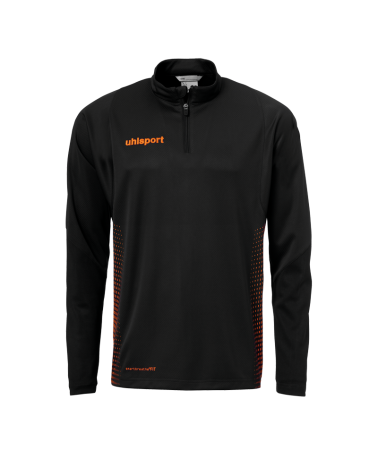 SCORE 1/4 ZIP noir/orange fluo